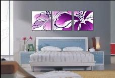 紫色无框画