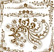 欧式边框花纹底纹矢量图片