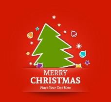 创意剪纸圣诞树背景