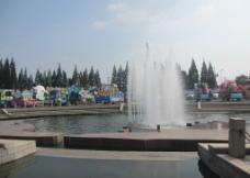 东方绿舟喷泉图片