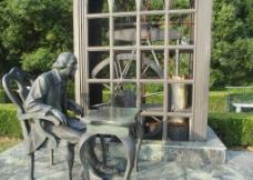 东方绿舟   铜雕塑   图片