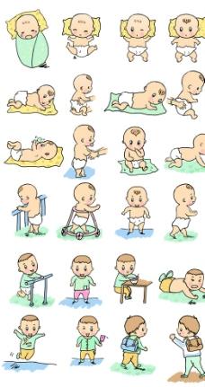 宝宝成长发育图图片
