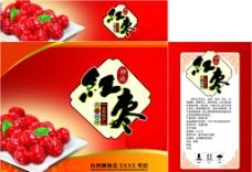 红枣包装展开图图片