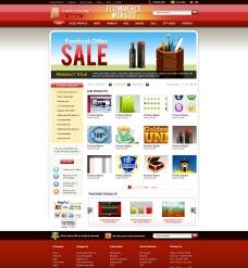 欧美风网上商城网站模图片