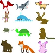 卡通动物素材图片