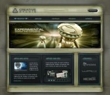 娛樂類網站模板圖片