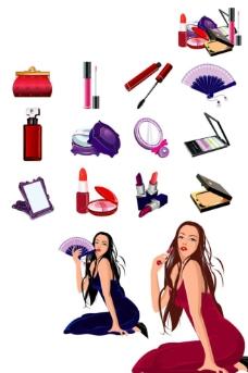 时尚 女性 化妆品图片