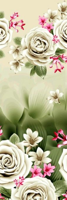高清手绘写实印花画稿图片