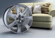 18寸铝轮毂三维设计