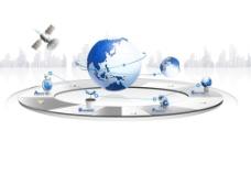网络科技地球卫星
