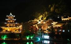 古镇夜景图片