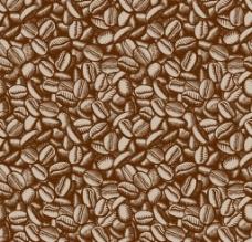 手绘咖啡豆背景矢量图片