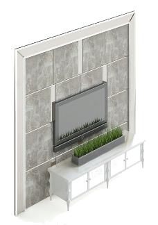 背景墙3d模型