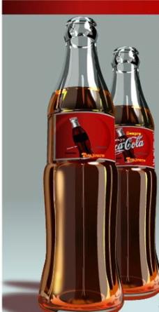 可乐玻璃瓶图片