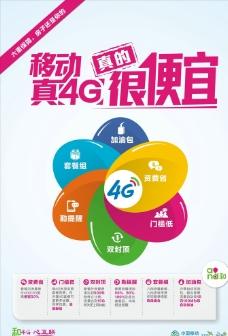 移动4G真的很便宜海报图片