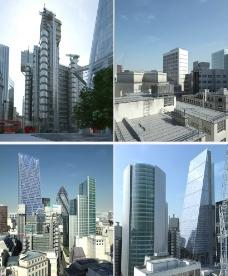 室外场景伦敦城max模图片