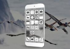 透明 iPhone6 模型图片