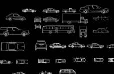 汽车平立面图图片