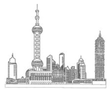 东方明珠线稿图片