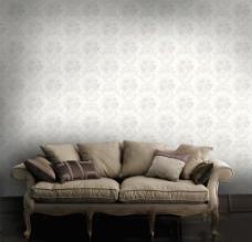 室内客厅欧式华丽沙发背景设计
