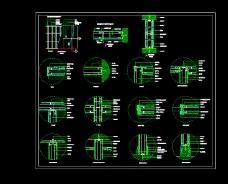 单层石膏板隔墙系统节点CAD设计图