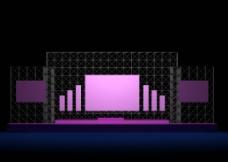 舞台紫色图片