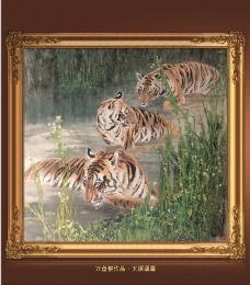 玉溪潺潺老虎国画