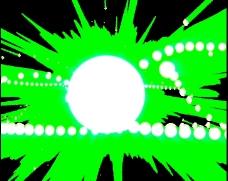 绿色多彩光效
