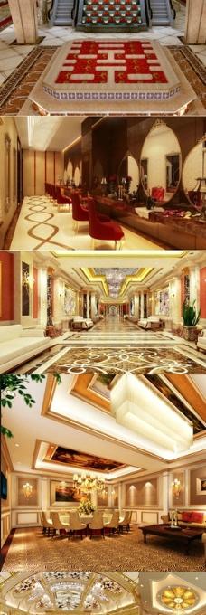欧式婚宴酒店图纸 全套效果图图片