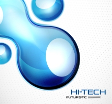 抽象蓝色水滴背景矢量素材