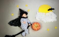 婴幼儿艺术满月照图片