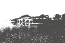 廊桥夜景图片