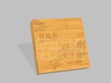 普洱茶雕刻礼盒分层平面图图片