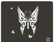 单色鼠标垫 蝴蝶图片