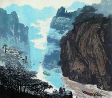 峡江晨雾图片