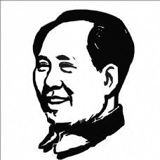 毛泽东毛主席头像剪影