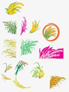 卡通水稻 矢量图片图片