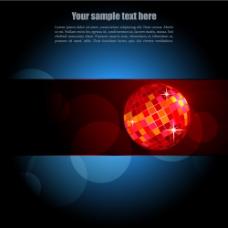 红色球美丽蓝光绚丽背景免费下载