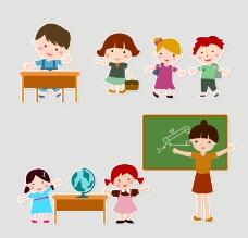 幼儿园儿童与老师