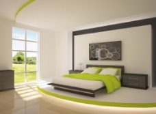 绿色白色室内