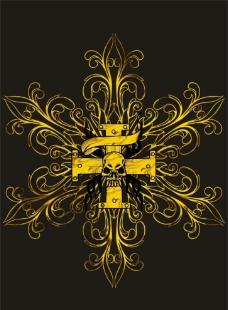 克罗心 骷髅头 十字架图片