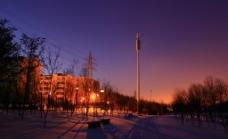 奥林匹克公园雪景图片