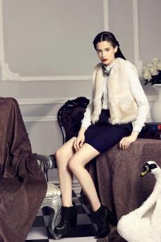 冬装女模特图片