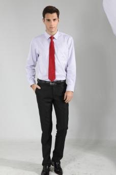 领带模特图片