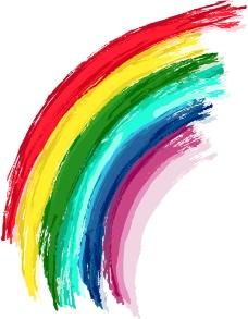 七色彩虹背景矢量素材