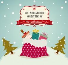 圣诞礼包背景