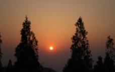 落日黄昏图片