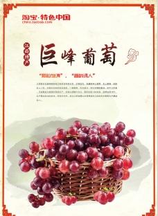 葡萄  中国风图片