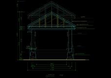 园林房顶结构