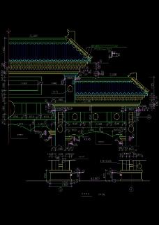 古典大门房檐结构图